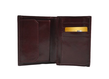 Open wallet with golden card photo