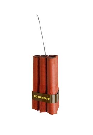 dynamite isolated on white photo