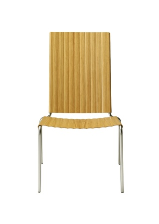 Wooden chair isolated photo