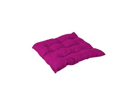bright purple pillow isolated on white Stock Photo - 15088187