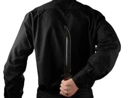 Holding Knife Behind His Back photo