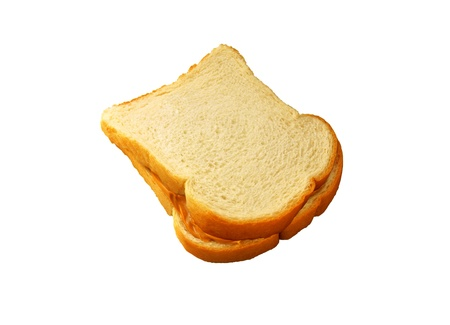Close up of sandwich on white background photo