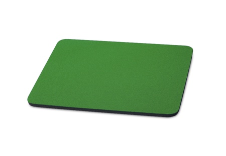 green mouse pad on the white background for site