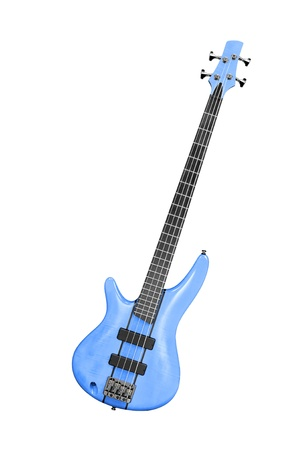 bass guitar with clipping path photo