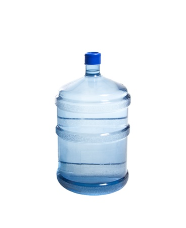 Big bottle of water isolated on white background photo