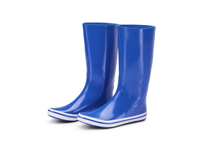 rubber boots isolated on a white background photo