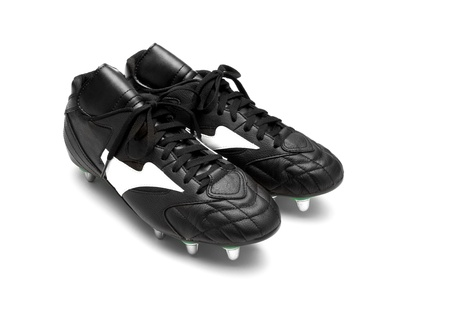 Football boots isolated on a white background photo