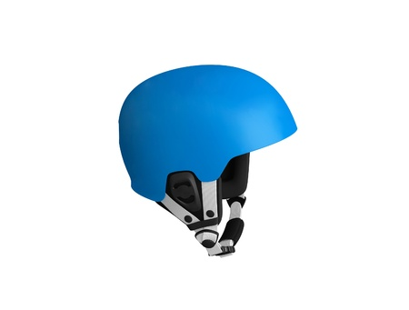 blue bicycle helmet isolated photo