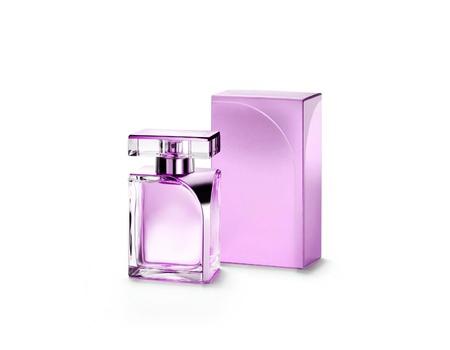 Perfume bottle isolated on a white background photo