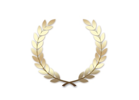 Gold Wreath isolated on a white background photo