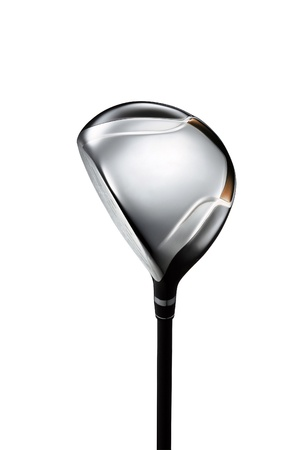 playing golf: Golf club on white background for you Stock Photo