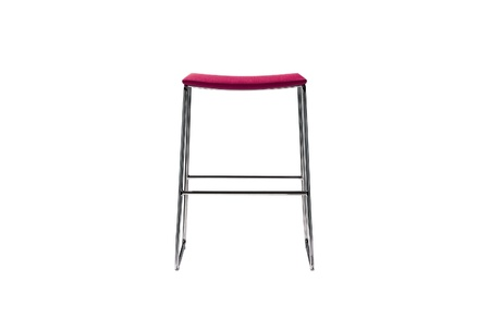 red bar stool isolated on a white background photo