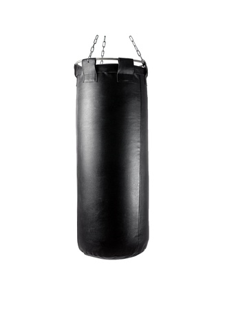 punching bag under the light background isolated photo