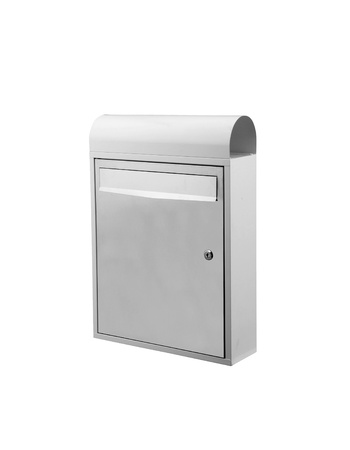 White Mailbox isolated on a white background photo