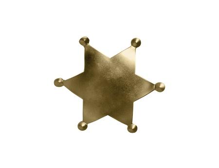 sheriff badge isolated on white background