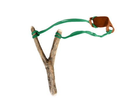 projectile: slingshot on a white background for you Stock Photo