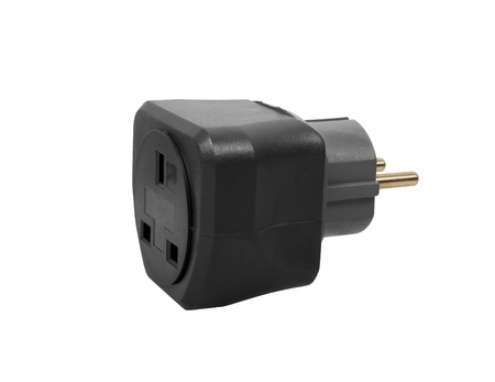 adapters: Series of electricity adapters to be used worldwide