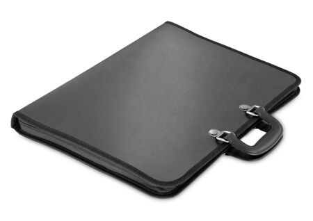 portmanteau: Black briefcase isolated on a white background  for site
