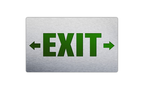 Square Exit sign isolated on a white background. photo