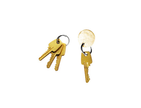 keys isolated on a white background for you photo