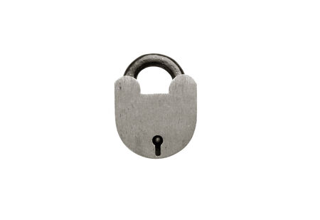 oxidize: Padlock isolated on the white background for you