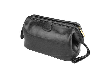 Small black bag isolated on white background. photo