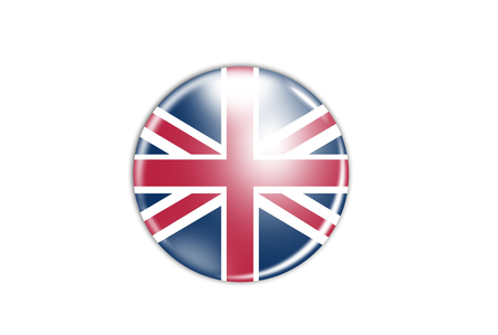 flag badge - Great Britain isolated on white photo