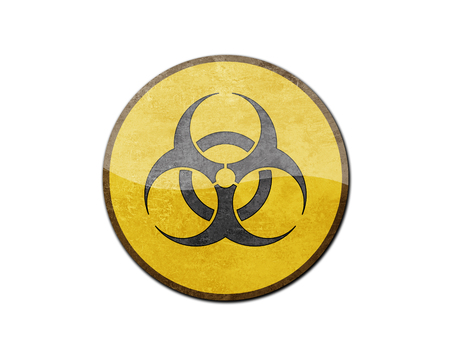 Biohazard sign isolated on a white background photo