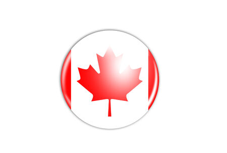 canadian flag: badge - Canadian flag isolated on white background