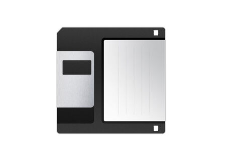 salvaging: 3.5 floppy disk isolated on white background Stock Photo