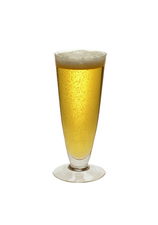 beer tulip: bear in a glass isolated on white Stock Photo