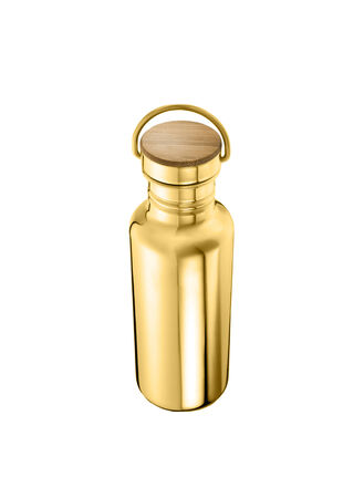 golden bottles isolated over white background for you