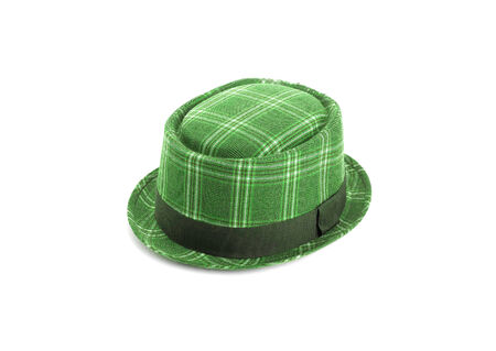 velvet dress: green velvet hat isolated on white background