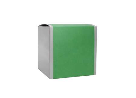 green box isolated on a white background photo