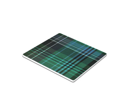 mouse pad: Plaid mouse pad isolated on white Stock Photo
