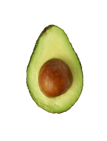 avocado over white  photo