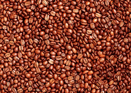 Coffee beans closeup background photo