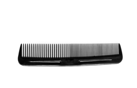 comb isolated on white close up look photo