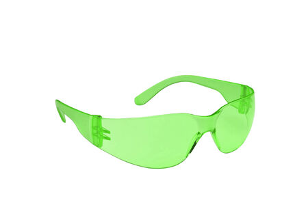 vision repair: Photo of green glasses isolated