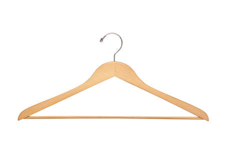 Coat hanger isolated over white background photo