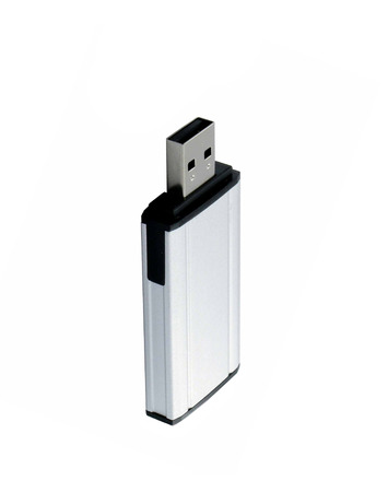 Usb flash dri�� isolated on white photo
