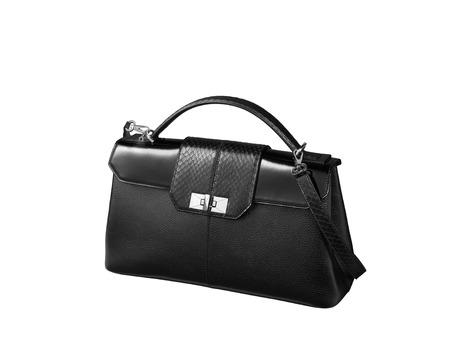 woman handle success: Black female bag