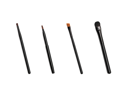 a set of 6 make-up brushes, shot on white background photo