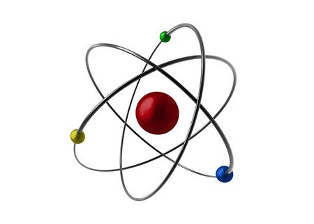 illustrated: illustrated of an atom Stock Photo