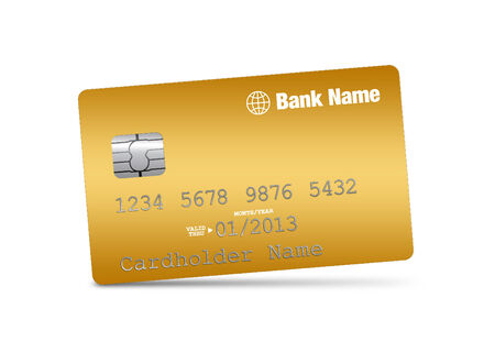 bankcard: Illustration of credit card on a white background Stock Photo