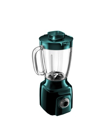 liquidiser: an electric blender on a white background Stock Photo