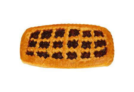 cherry pie over white photo