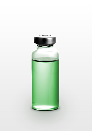 linctus: Single small bottle with drug isolated over white background Stock Photo
