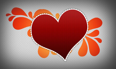gray background with heart photo