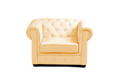 elbowchair: Luxurious armchair isolated on a white background